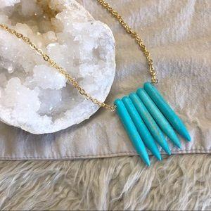 •JESSICA ELLIOT• Turquoise Howlite Spike Necklace